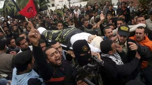 Un millier de Palestiniens ont crié «Vengeance sur Tel-Aviv» lors des funérailles de l'activiste palestinien tué samedi.
