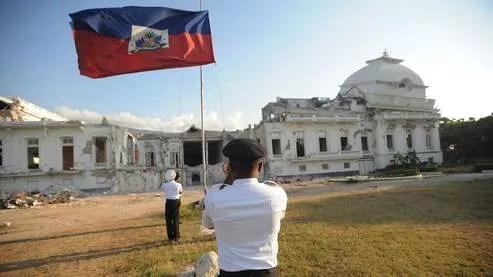 Le palais présidentiel de Port-au-Prince, détruit par le séisme du 12 janvier 2010.