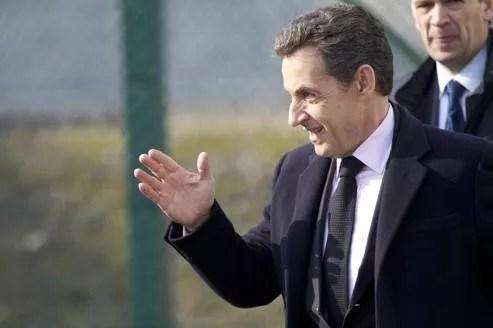 Nicolas Sarkozy à Fessenheim, jeudi.