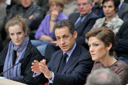 Nathalie Kosciusko-Morizet, Nicolas Sarkozy et Chantal Jouanno, en 2011.