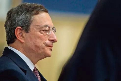 Mario Draghi, président de la Banque centrale européenne, jeudi, à Rome.