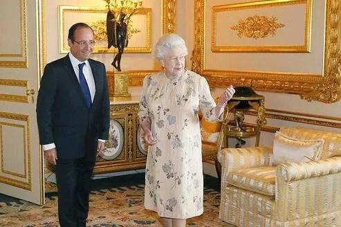 Elizabeth II avait invité François Hollande à l'heure du thé au château de Windsor.