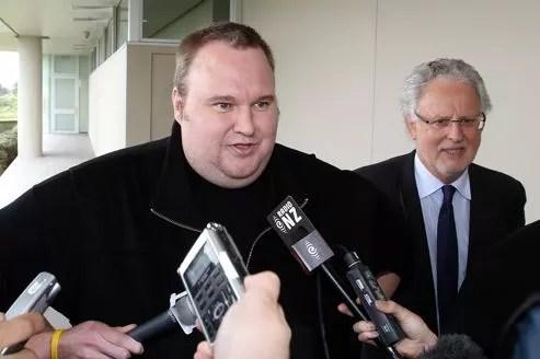 Kim Dotcom après sa libération conditionnelle en février dernier.
