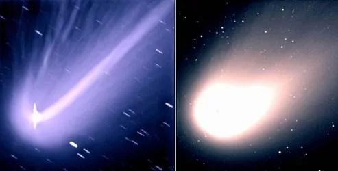 La comète Hale Bopp, en 1997, était visible à l'œil nu dans l'hémisphère nord.
