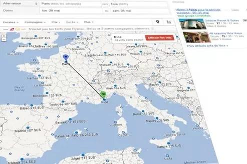 Ryanair, Swiss ou easyJet sont absents du comparateur.