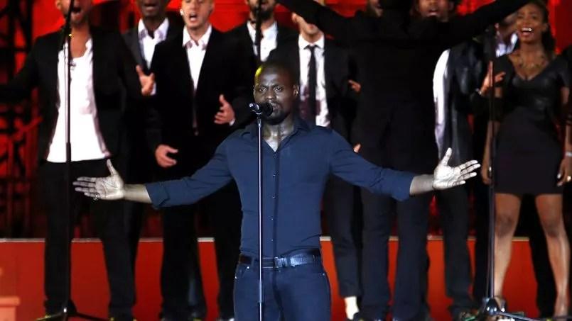 Kery James lors de sa prestation à la cérémonie d'ouverture des Jeux de la Francophonie, à Nice, samedi 7 septembre.