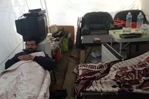 Ahmed Oubakhti a perdu 17 kilos depuis le début de sa grève de la faim. Crédits photo: HG
