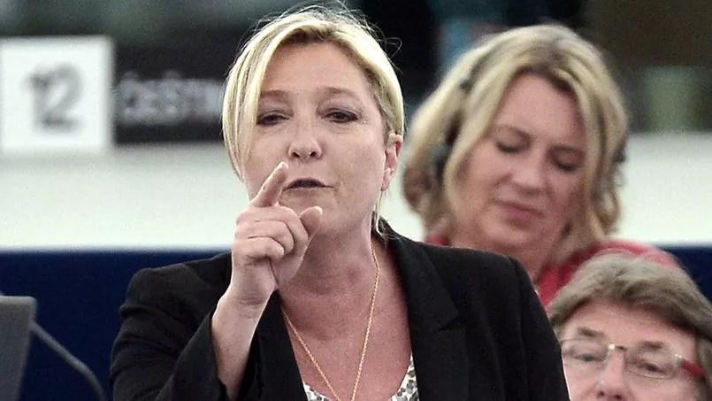 Marine Le Pen au Parlement européen de Strasbourg, le 2 juillet.
