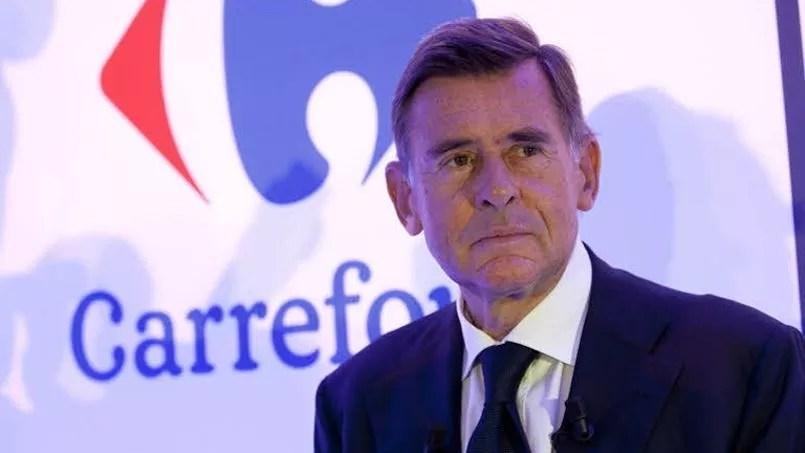 Le PDG du groupe Carrefour Georges Plassat arrive en sixième position avec ses 3 millions d'euros de rémunération annuelle. Il est à la tête du groupe depuis 2012.