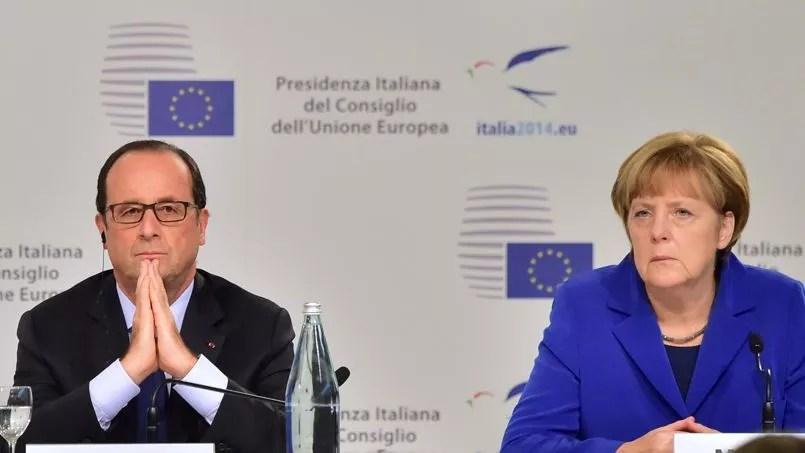 François Hollande et Angela Merkel, mercredi, à Milan.