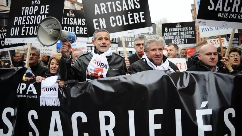 La CGPME a compté plus de 6000 manifestants à Paris et 4000 à Toulouse, où la police s'est arrêtée à respectivement 2200 et 2500.