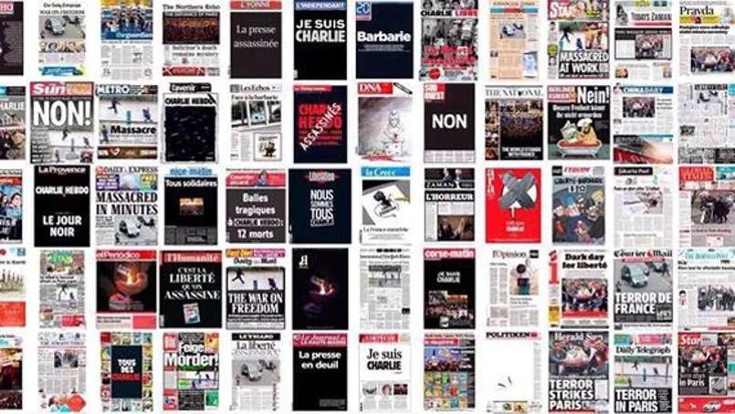 La presse internationale réagit après l'attentat qui a frappé Charlie Hebdo ©Twitter/Laurent Bouvet