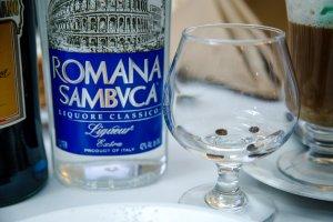 Sambuca Romana at Le Fontane Restaurant