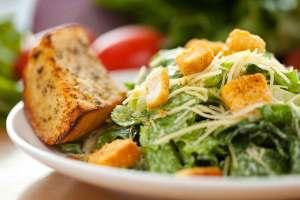 Caesar salad at Le Fontane Restaurant