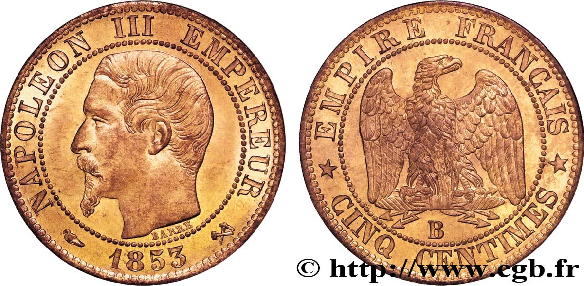 piece de monnaie cinq centimes napoleon