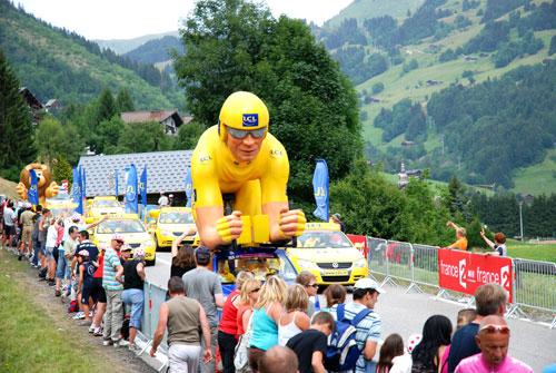 Giant Tour de France cyclist