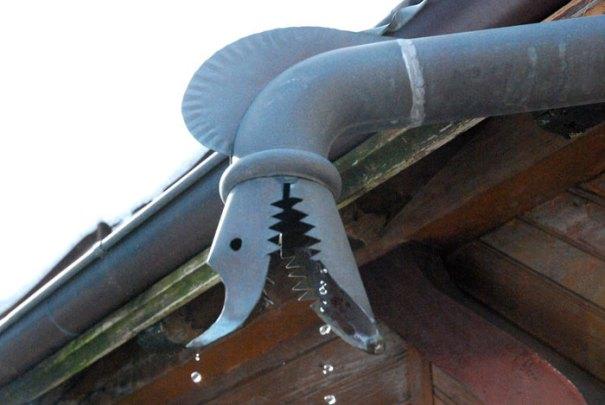Ornate drain pipe in St Jean de Sixt