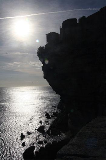 Corsican village on cliff