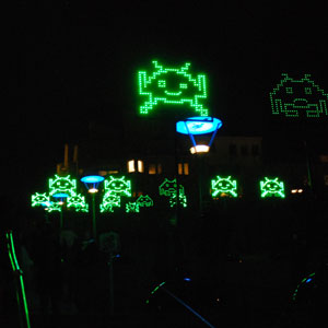 Hovering space invaders