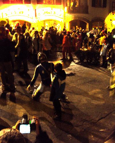 La Clusaz carnival Power Ranger