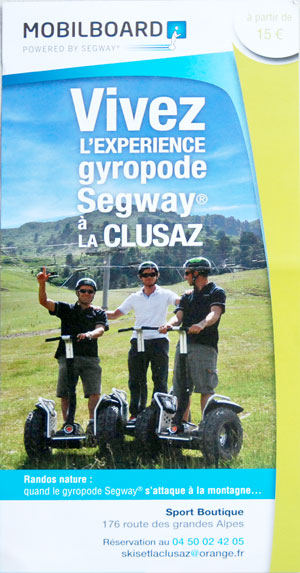 Segway in La Clusaz