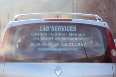 Lad's Services La Clusaz, Aravis mountains, French Alps