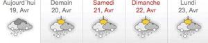 <Weather outlook for La Clusaz, France>