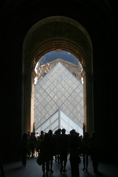 <An alternative view of the Louvre museum in Paris, France >