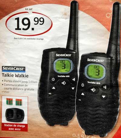 <Photo of walkie talkies sold in France>