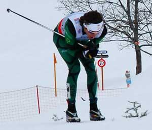 <Photo of Australian Callum Watson on his first lap at the FIS World Cup La Clusaz 2013>