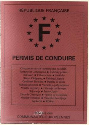 <French driving licence - a 'permis de conduire'>
