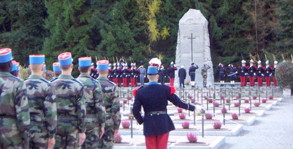 War Memorial site in Thones, Haute Savoie, Rhone Alps, France