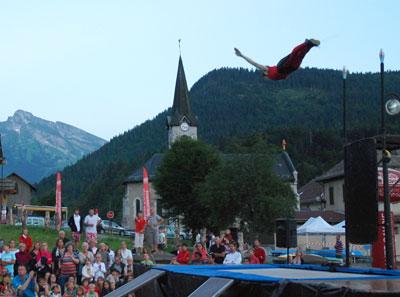<Acrobatics in St Jean de Sixt>