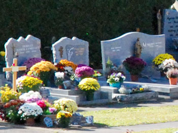 <Photo of a French cemetery on Alla Saints Day >