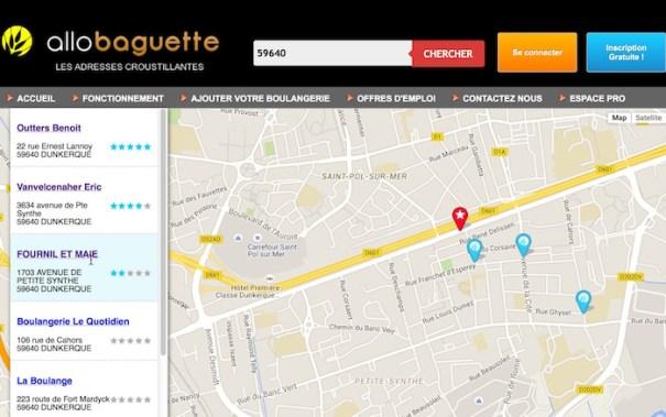 Allo Baguette website for online bread orders