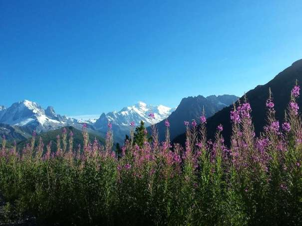 Mont-blanc from Emosson dam