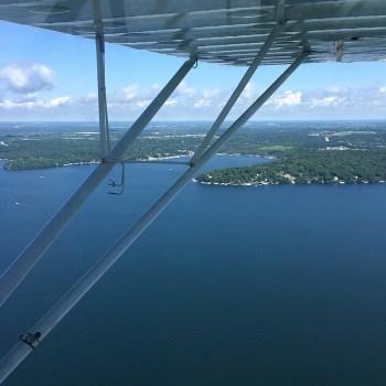 No Envy looking at Lake Geneva viewed from a Champion 7EC