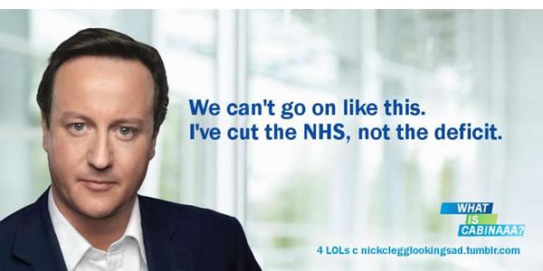 David-Cameron-cut-the-NHS-poster