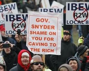 Michigan-union-protests