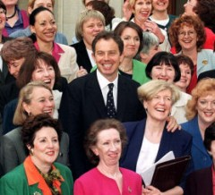Tony Blair surrounded by new women MPs