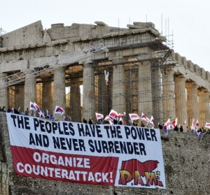 Communists storm the Acropolis in protest at austerity measures