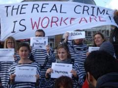 real crime is workfare, pic by Boycott Workfare