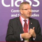 Len McCluskey at CLASS fring meeting at Labour Conference 2012