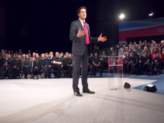 Ed Miliband at PPF, pic by Mick Archer