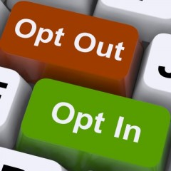 Opt in v opt out