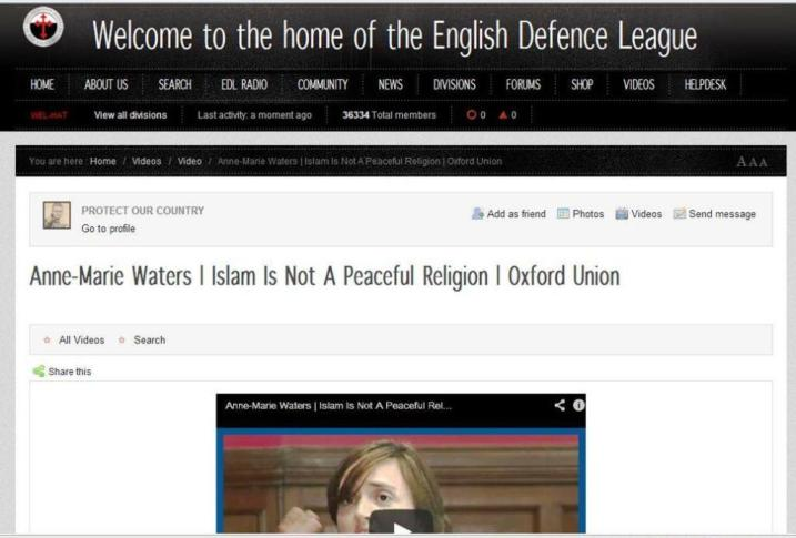 EDL supports Anne Marie Waters