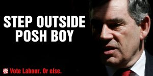 Step Outside Posh Boy: the Guardian's 2010 spoof for a Labour poster campaign