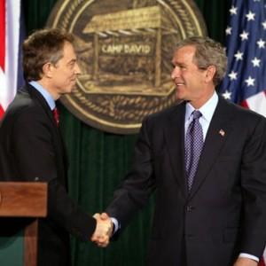 Bush and Blair at Camp David