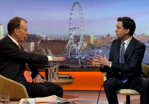Ed Miliband on The Marr Show