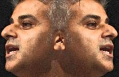 Sadiq Khan facing two ways